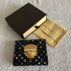 Louis Vuitton Multicolor Joey Black Grenade Wallet